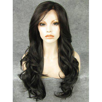 Buy Fashion Fluffy Charming Long Wavy Heat Resistant Synthetic Lace Front Wig For Women for $73.81 in GearBest store