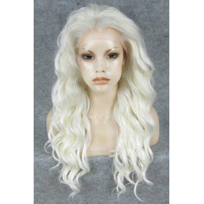 Buy Nonmainstream Fluffy Long White Wavy Heat Resistant Women's Synthetic Wig for $73.24 in GearBest store