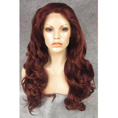 Buy Fashion Fluffy Charming Long Wavy Copper Red Heat Resistant Synthetic Wig For Women for $73.81 in GearBest store