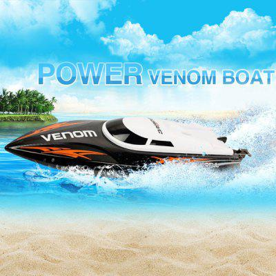 UDI 001 Tempo Power Venom 2.4G RC Boat - RTRRC Boats<br>UDI 001 Tempo Power Venom 2.4G RC Boat - RTR<br><br>Boat/Ship Power: Built-in rechargeable battery<br>Brand: UDI<br>Detailed Control Distance: 150m<br>Functions: Turn left/right, Forward/backward<br>Material: ABS, Alloy, Electronic Components, Plastic<br>Package Contents: 1 x RC Boat ( Battery Included ), 1 x Transmitter, 1 x USB Cable, 1 x Tail Blade<br>Package size (L x W x H): 38.00 x 28.00 x 14.00 cm / 14.96 x 11.02 x 5.51 inches<br>Package weight: 1.2000 kg<br>Playing Time: 7~8mins<br>Product size (L x W x H): 32.40 x 8.90 x 8.80 cm / 12.76 x 3.5 x 3.46 inches<br>Product weight: 0.2600 kg<br>Remote Control: 2.4GHz Wireless Remote Control<br>Transmitter Power: 4 x 1.5V AA battery (not included)<br>Type: RC Boats