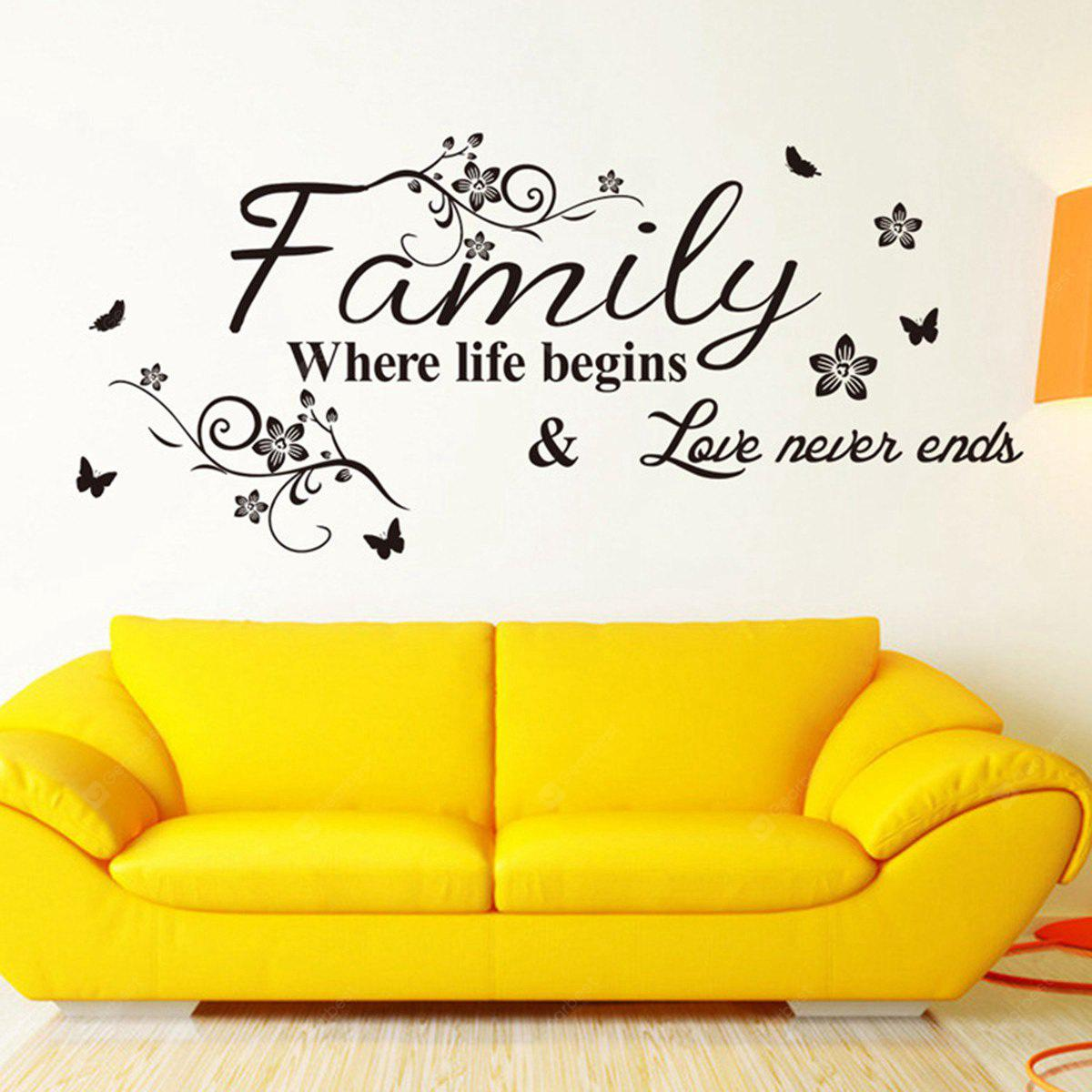 Family Palabra en Ingles Estilo Sticker Calcomania para Paredes y Decoración para el Hogar