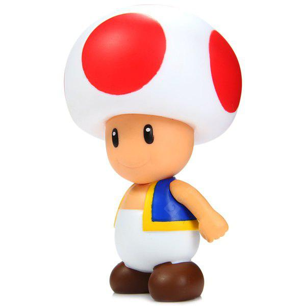 10cm Mini Super Mario Brothers Action Figure Mushroom Boy Doll Toy