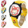 Cute Cartoon Ali Design Girls Women Quartz Watch with Leather Band Round Dial photo