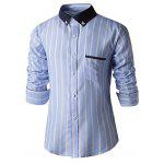 Buy LIGHT BLUE, Apparel, Men's Clothing, Men's Shirts for $11.16 in GearBest store