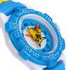 Analog Quartz Watch Pikachu Design Rubber Band for Children - BLUE