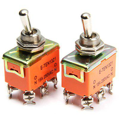 6Pin AC 250V 15A Toggle ON  -  ON Switches for Electronic DIY  -  2PCS