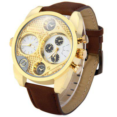 Shiweibao A3077 - 1 Multi Sub - dials Dual Movt Men Quartz Watch