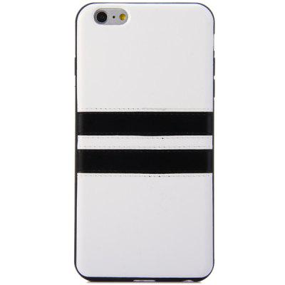 Practical TPU Material Contrast Color Stripe Design Back Cover Case for iPhone 6 Plus  -  5.5 inch