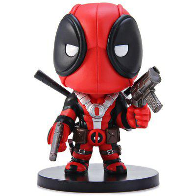 12cm Deadpool Cosplay X Man Comic / Anime PVC Figure Models Feature for Collection