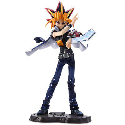24cm Yugi Mutou Cosplay YUGIOH Comic / Anime PVC Figure Models Feature for Collection