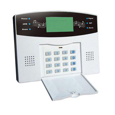 GS - C5 LCD Display PSTN Home Alarm System with Built - in Clock