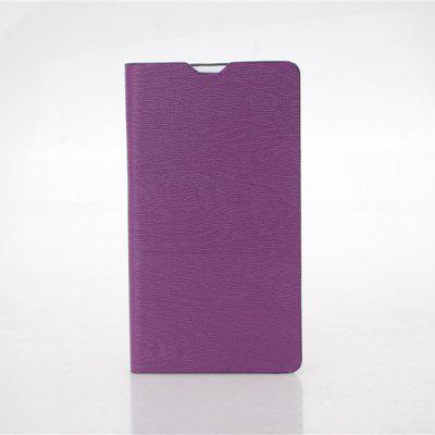 Wood Grain Pattern PU and PC Material Card Holder Cover Case with Stand for Microsoft Lumia 535
