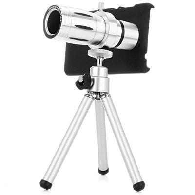 Practical 12x Optical Telescope Mobile Telephoto Lens with Tripod and Back Case for Xiaomi 4
