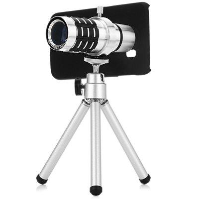 Practical 12x Optical Telescope Mobile Telephoto Lens with Tripod and Back Case for Samsung Galaxy S6 G9200