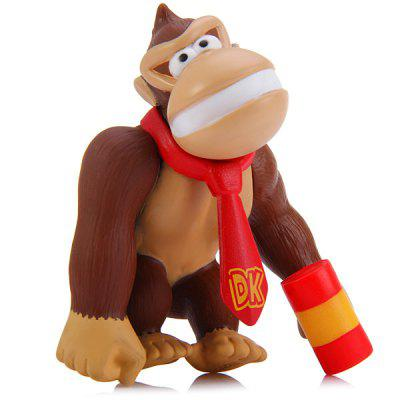 Super Mario Brothers 10CM PVC Donkey Kong Ape with Hammer Characteristic Figure Collectible Toy