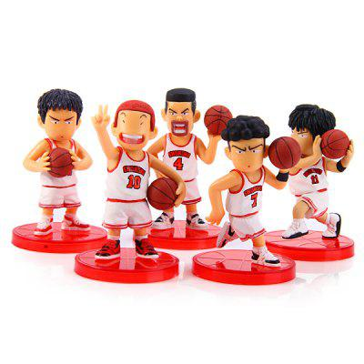 8cm Cartoon Model Slam Dunk Characteristic Action Figurine Toy  -  5Pcs