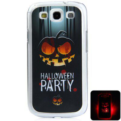 PC Material Pumpkin Pattern LED Incoming Call Shining Back Cover Case for Samsung Galaxy S3 i9300