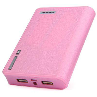 KINSTON 5500mAh Practical Dual USB Outputs Portable Mobile Power Bank with LED Power Indicator Light