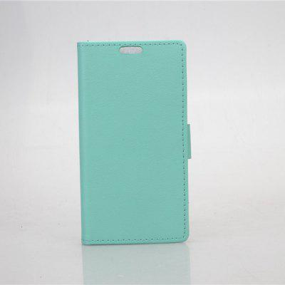 Plain Weave Pattern Phone Cover PU Case Skin with Stand Function for HTC Desire Eye