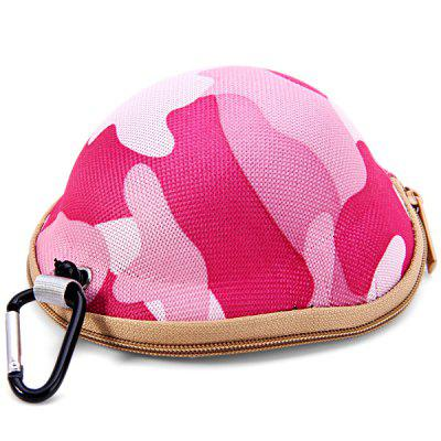 Camouflage Helmet Pattern Soft Material Key Money Bag Case with Metal Buckle
