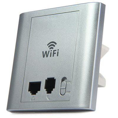 LAFALINK PW300P24C 300Mbps 2.4G Wireless Inwall PoE Access Point with Telephone Port 24V WiFi Extender