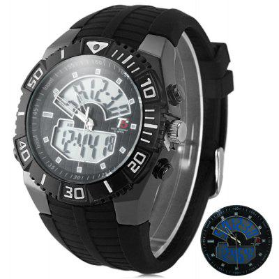 T5 3350 Water Resistance Dual Movt LED Sports Watch
