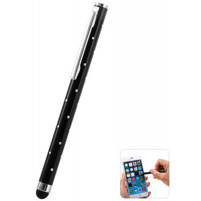 Portable Clip Design Diamante Touch Screen Stylus Pen