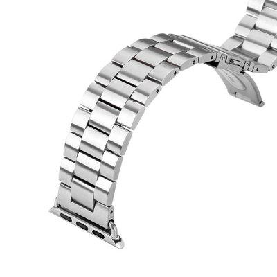Stainless Steel Watchband Strap of Safety Folding Clasp Design for Apple Watch 42mm