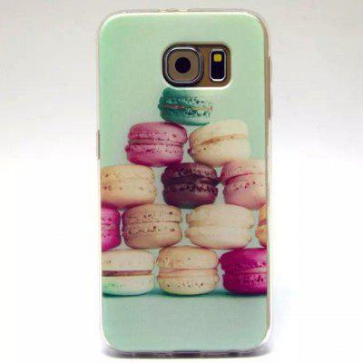 Macaron Dessert Pattern TPU Material Phone Back Cover Case for Samsung Galaxy S6 G9200