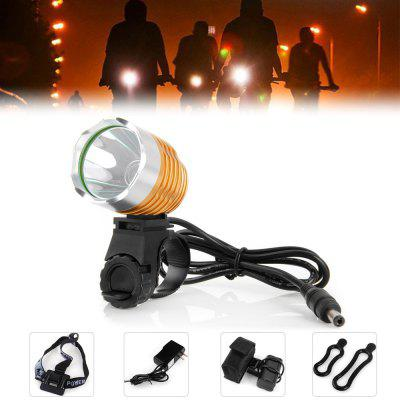 Dark Knight K1A Cree XML - U2 LED Headlight 6 Modes Headlamp Bicycle Light ( 1200LM 7000K )