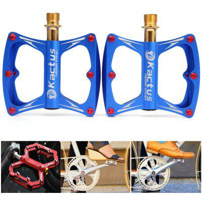 Kactus KTPD  -  09 CNC Bike MTB Platform Flat Pedals with Gold - plating Titanium Axle  -  2Pcs