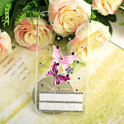 Luxury Bling Diamonds Butterfly Pattern Phone Frame Case for Samsung Galaxy S6 G9200