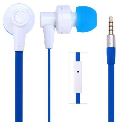 Awei ES700i 1.2m Flat Cable Design In - ear Earphone with Mic for Smartphone Tablet PC