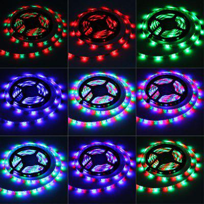 5m 24W 300 SMD 3528 LEDs RGB Ribbon Light IP65 Water Resistant DIY Strip Lamp Kit  -  12V 5A