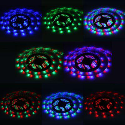 5 Meters 24W 300 SMD 3528 LEDs Voice - activated RGB Ribbon Light IP65 Water Resistance DIY Strip Lamp Kit  -  12V 5A