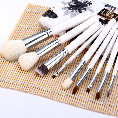 9pcs / Kit Specialized Beauty Cosmetic Brush with Arabesquitic Brush Holder for Professional Makeup
