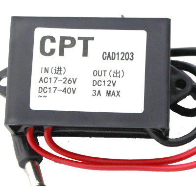 TS - ZV69 36W Car Power Converter DC 17 -  40V Step Down to 12V 3A Regulator