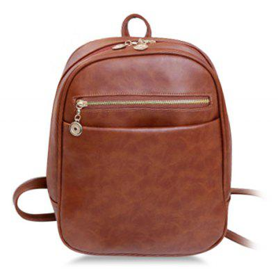 Trendy PU Leather and Solid Color Design Women's Satchel