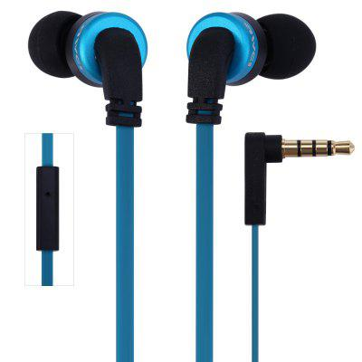 Awei ES  -  13i 1.2m Flat Cable Design In - ear Earphone with Mic for Smartphone Tablet PC