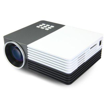 GM50 Multifunctional Home Theater LCD Projector 80 LM 480 x 320 Pixels with Keystone Correction for PC Laptop