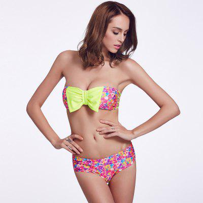 THE FILLE 225Y04301Y04 new fashion popular sexy bow hit the color bikini set