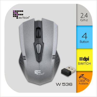 Fantech W536 2.4G 4 Buttons 1600DPI Wireless Optical Mouse with Receiver for Desktop Laptop
