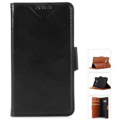 Oily Sense of PU Cover Case with Support and Card Holder for Samsung Z1
