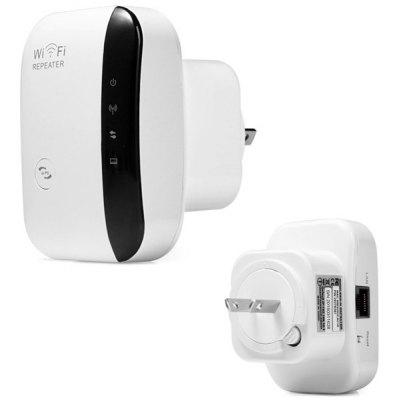 Buy WHITE WR03 Portable 300Mbps 2.4GHz WiFi Repeater Wireless Router with Wall in Socket Support One Key Encryption  (AC 100 240V ) for $9.89 in GearBest store