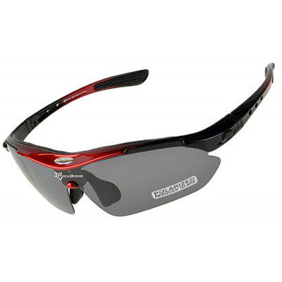 ROCKBROS Super Resilience Outdoor Sports Polarized Bicycle Sun Glasses for Men / Women - RED