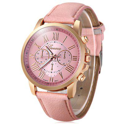 Geneva Bright Colors Leather Band Ladies Fashion Quartz WatchWomens Watches<br>Geneva Bright Colors Leather Band Ladies Fashion Quartz Watch<br><br>Available Color: Black,Green,Pink,White<br>Band material: Leather<br>Brand: Geneva<br>Case material: Alloy<br>Clasp type: Pin buckle<br>Display type: Analog<br>Movement type: Quartz watch<br>Package Contents: 1 x Geneva Watch<br>Package size (L x W x H): 25.10 x 5.00 x 1.80 cm / 9.88 x 1.97 x 0.71 inches<br>Package weight: 0.0820 kg<br>Product size (L x W x H): 24.10 x 4.00 x 0.80 cm / 9.49 x 1.57 x 0.31 inches<br>Product weight: 0.0320 kg<br>Special features: Decorating small sub-dials<br>Style: Fashion&amp;Casual<br>The band width: 1.9 cm / 0.75 inches<br>The dial diameter: 4.0 cm / 1.57 inches<br>The dial thickness: 0.8 cm / 0.31 inches<br>Watches categories: Female table