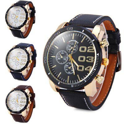 Shiweibao A3139 Leather Band Decorative Sub - dials Male Quartz WatchMens Watches<br>Shiweibao A3139 Leather Band Decorative Sub - dials Male Quartz Watch<br><br>Available Color: Blue,White,Black,Brown<br>Band material: Leather<br>Brand: Shiweibao<br>Case material: Stainless Steel<br>Clasp type: Pin buckle<br>Display type: Analog<br>Movement type: Quartz watch<br>Package Contents: 1 x Shiweibao A3139 Watch<br>Package size (L x W x H): 27.8 x 6.1 x 2.3 cm / 10.93 x 2.40 x 0.90 inches<br>Package weight: 0.136 kg<br>Product size (L x W x H): 26.8 x 5.1 x 1.3 cm / 10.53 x 2.00 x 0.51 inches<br>Product weight: 0.086 kg<br>Shape of the dial: Round<br>Special features: Decorating small sub-dials<br>The band width: 2.2 cm / 0.87 inches<br>The dial diameter: 5.1 cm / 2.00 inches<br>The dial thickness: 1.3 cm / 0.51 inches<br>Watch style: Fashion<br>Watches categories: Male table