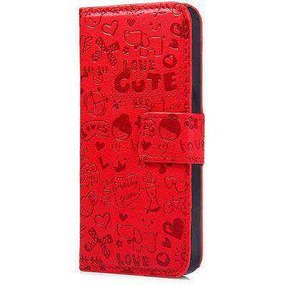 Cartoon Style PU and PC Material Protective Cover Case for iPhone SE / 5 / 5S