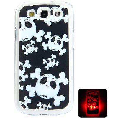 PC Material Skull Pattern LED Incoming Call Shining Back Cover Case for Samsung Galaxy S3 i9300
