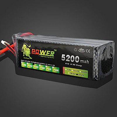 Lion Power XT60 Plug 22.2V 5200mAh 30C Max 45C Lipo High Capacity Battery